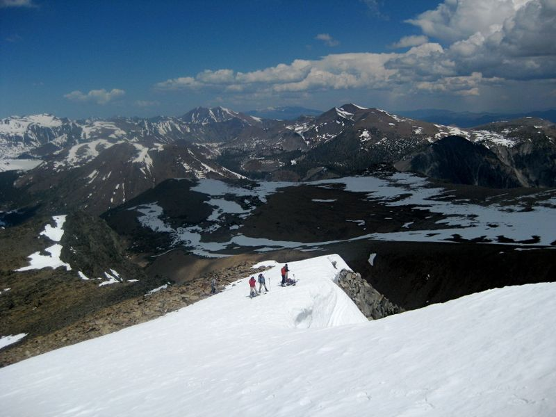 Top of Solctice Couloir on Mt. Dana